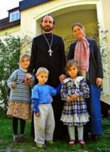 Prêtre marié et ses enfants