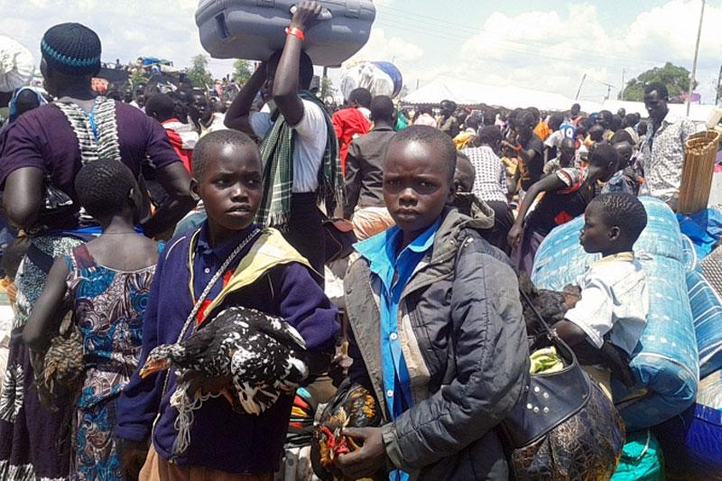 Sept cents mille réfugiés soudanais enOuganda!