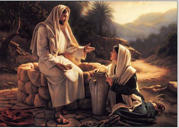 Jésus ,fatigué par la route,s'assit sur unpuits