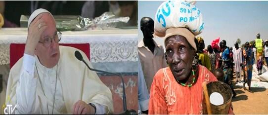 Le Pape pour le Soudan du Sud: 500 000 dollars desoutien
