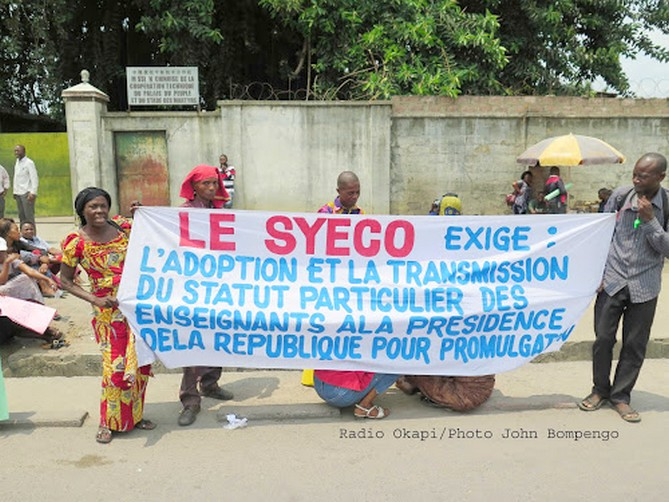 RDC: Les enseignants ont besoin d'êtrerassurés