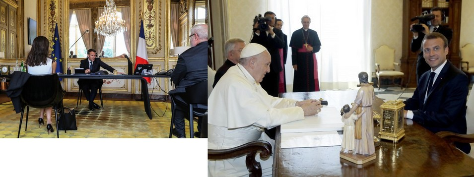 E. Macron avec le Pape et les représentants des cultes:les Églises n'ouvriront pas le 11mai