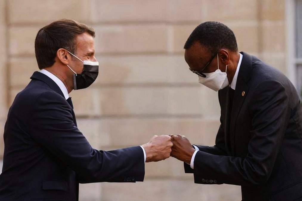 Rencontre de Macron et Kagame